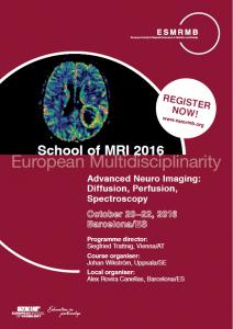 ESMRMB_School_ofMRI_course_flyer_Neuro_Barcelona
